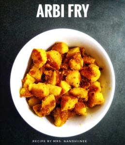 Arbi Fry by Nandhiinee